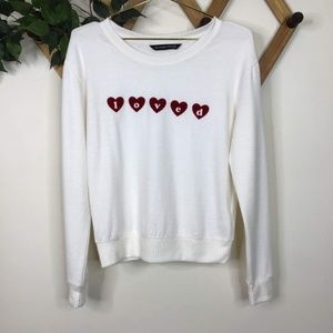 """Abercrombie & Fitch Graphic """"Loved"""" Crew Sweater"""